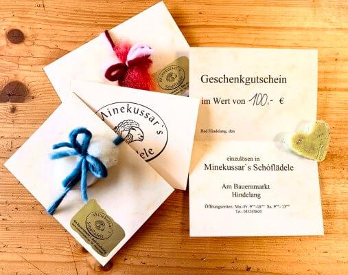 Bad Hindelang Gutschein 100 Euro im Schäferladen